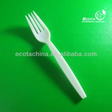 Hot selling whole sale Nature corn starch Plastic cutlery fork