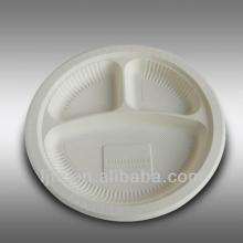 Corn starch Bio-based Disposable Plate/Dishes 254*20 mm/ 10inch