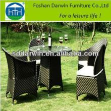 Restaurant furniture tepered glass top and 4 armchair (DW-DT020+DW-AC061+DW-C014)