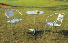 Outdoor or garden or coffee shop luminum frame furniture set (DW-A10+DW-012)
