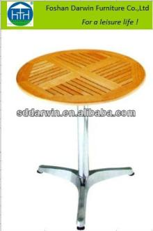 Outdoor Used Teak Wood Aluminum Frame Dining Table DW-A035