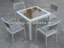Outdoor Plastic Wood Composite  Garden  Dining Table and Chairs DW-DT058