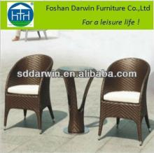 Garden Terrace Plastic Weave Table and Chair for Coffee Shop DW-GT16