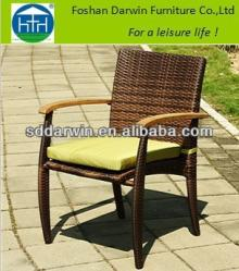 Outdoor Synthetic Wicker Wood Armress Rattan Stacking Chair DW-AC010