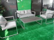 Garden  furniture  sofa with poly wood  material  (DW-SF041+DW-SF042+DW-GT14)