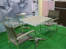 Rattan furniture dining table and chair set (DW-DT012+DW-AC005)