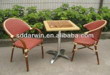 Restaurant bench  outdoor  marble table and bamboo chairs (DW-BC025+DW-MT002)
