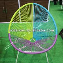 Wholesale import garden furniture rattan furniture steel frame wicker colour chair (DW-AC052)