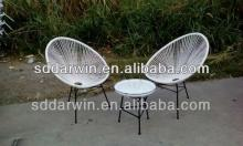 Garden gazebo round wicker chairs and round rattan table(DW-AC052)