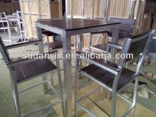 Square  Wood   Table  / Aluminum Square Bar  Table
