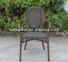 Furniture romania wood circular tables rattan bamboo chair bar chair (DW-BC012)