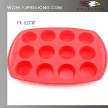 2014 hot selling silicone cake and chocolate colorful molds