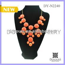 wholesale saffron yellow teardrop bubble bib teardrop Anthropology Inspired Briolette  necklace