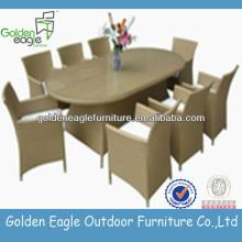 Popular rattan dining set with 6 chairs