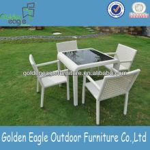 Garden  Furniture White Table and 4 chairs