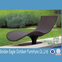 Outdoor synthetic rattan  chaise   lounge