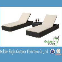 outdoor  leisure double  bed  aluminum rattan beach  sun  lounger