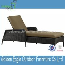 PE rattan popular wicker outdoor use lounger