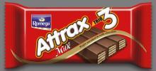 Romega Attrax Trio Milk - Wafer Enrobed in Milk Chocolate 31 gr