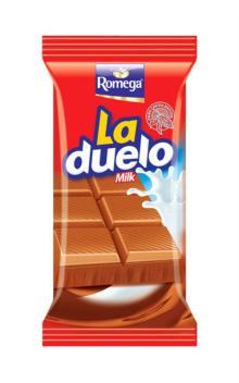 Romega LaDuelo Milk Chocolate Tablet 60gr