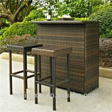 MYX12-13 Foshan outdoor garden  furniture  3 pcs KD rattan bar  furniture
