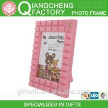 2014 Guangzhou Chocolate Bar shaped 5R print plastic funny frame photo