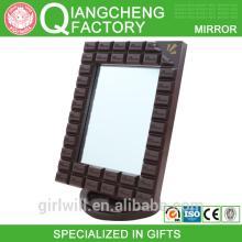 Chocolate bar shaped wall mirror