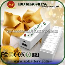 2013 Hot selling Chocolate bar mini usb charger 2600mah with CE CF ROHS Dual USB Low Price Gift 2600