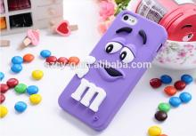 Soft silicone M&M Rainbow Beans Chocolate phone Case For Iphone 5/5s mobile phone case
