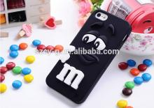 Soft silicone M&M Rainbow Beans Chocolate Case For Iphone 5/5s silicone protect phone case