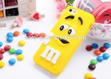 Soft silicone M&M Rainbow Beans Chocolate Case For Iphone 5/5s mobile phone case