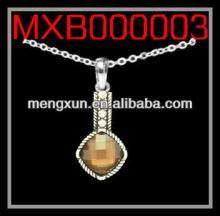 2013 yiwu fashion jewelry alloy CABLE  NECKLACE  - BAR DROP DIAMOND / CHOCOLATE