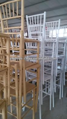 stackable furniture solid wood chiavari bar chairs with backs