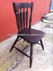 Antique wooden banquet chair for event