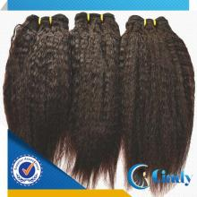 natural dark chocolate color hot selling virgin mongolian kinky straight hair product
