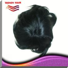 6 Inch Grey Brazilian Remy  Hair  Toupee With Clips