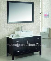 Wooden Floor Standing design bathroom makeup vanities