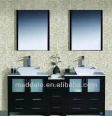 Exquisite  Wooden  Floor StandingBathroom Vanity With Porcelain Basin