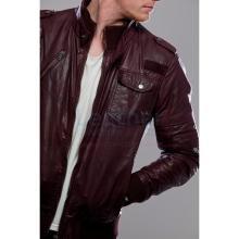 Chocolaty Bomber Leather Jacket
