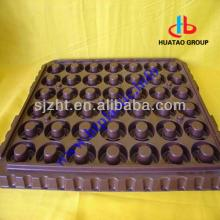 Dark Brown Gloss Plastic HIPS/ PS/  PVC   Sheet /film for chocolate pack tray