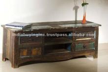 Recycled Wood Furniture Dark Chocolate