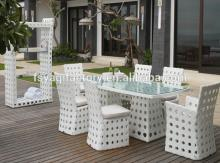 Good quality white wicker rattan sofa chairs(YA-3021)