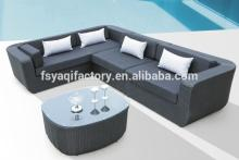 Modern rattan/wicker furniture sofa synthetic plastic rattan furniture(YA-3002)