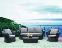 New design high back rattan outdoor furniture (YA-3014)