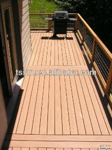 Solid wpc decking low cost all colors
