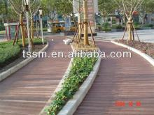 Solid wpc decking against high temperature color decking