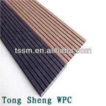 Cheap hollow dark coffee color plastic composite wpc board for Cheapest place for decking boards
