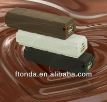 handy generic small power bank for mobile  phone  chocolate shape