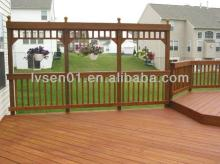 different  color  outdoor  wood  and plastic composited decking