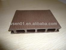 Outdoor 40% HDPE comopsit decking Waterproof Hollow and Solid Outdoor Decking